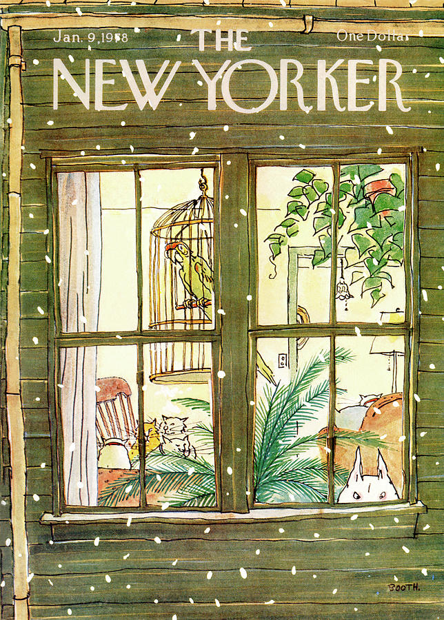 New Yorker January 9th, 1978 Painting by George Booth