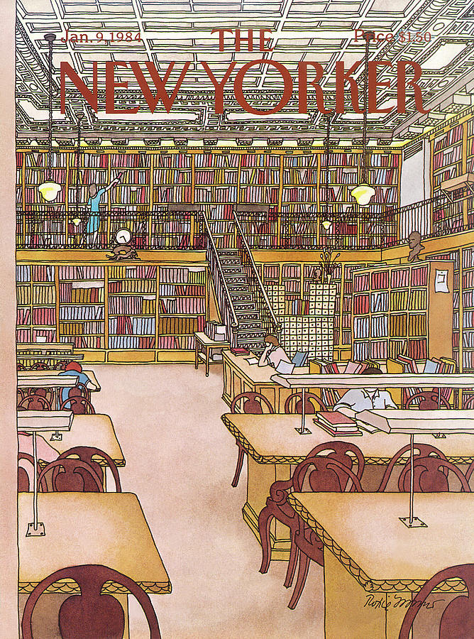 New Yorker January 9th, 1984 Painting by Roxie Munro