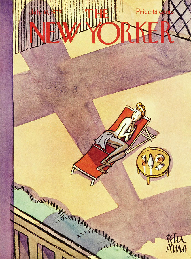 Rooftop Painting - New Yorker July 10 1937 by Peter Arno