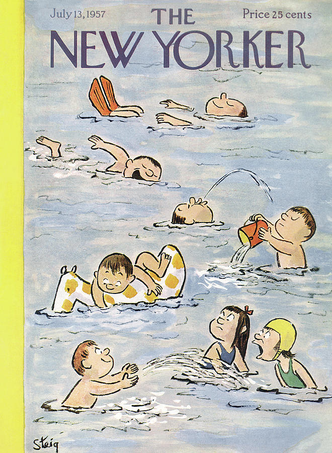 New Yorker July 13th, 1957 Painting by William Steig