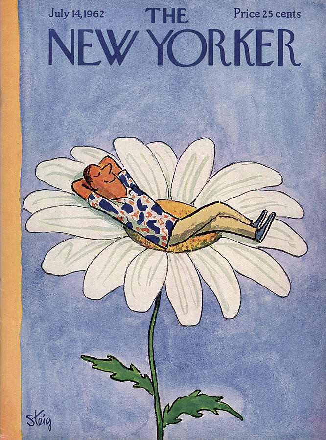 New Yorker July 14th, 1962 Painting by William Steig