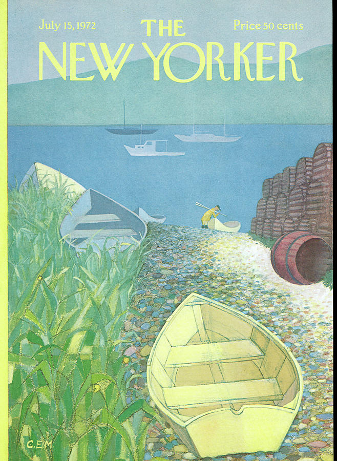 New Yorker July 15th, 1972 Painting by Charles E Martin