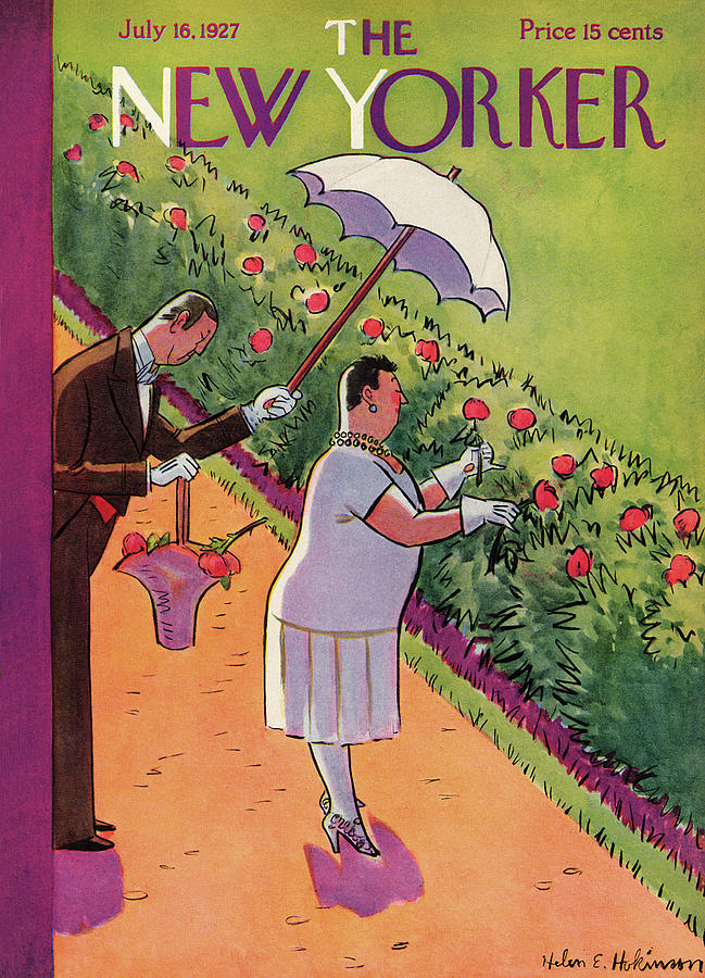 New Yorker July 16th, 1927 Painting by Helen E Hokinson