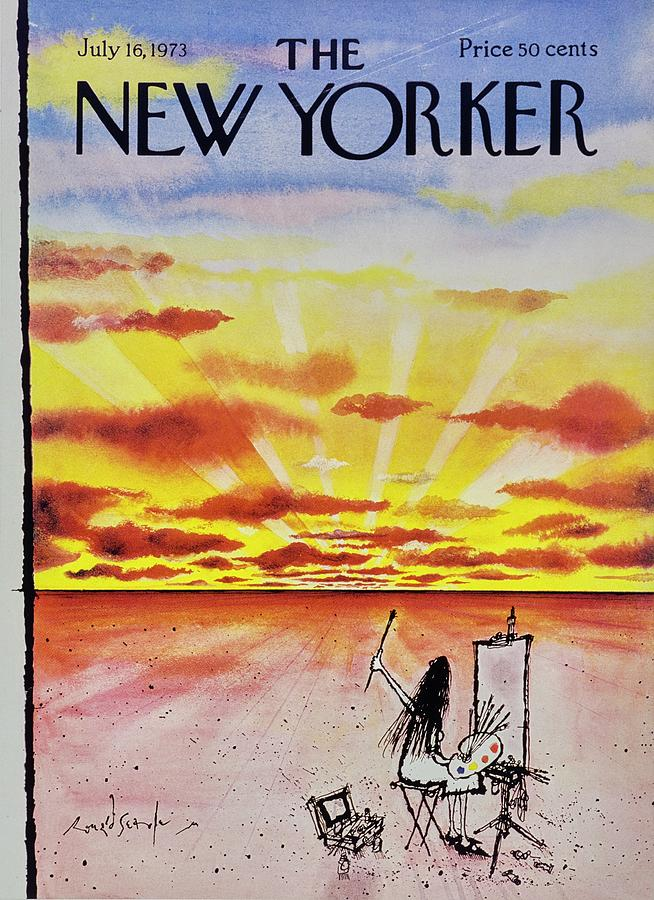 New Yorker July 16th 1973 Painting by Ronald Searle