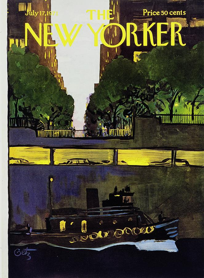 New Yorker July 17th 1971 Painting by Arthur Getz
