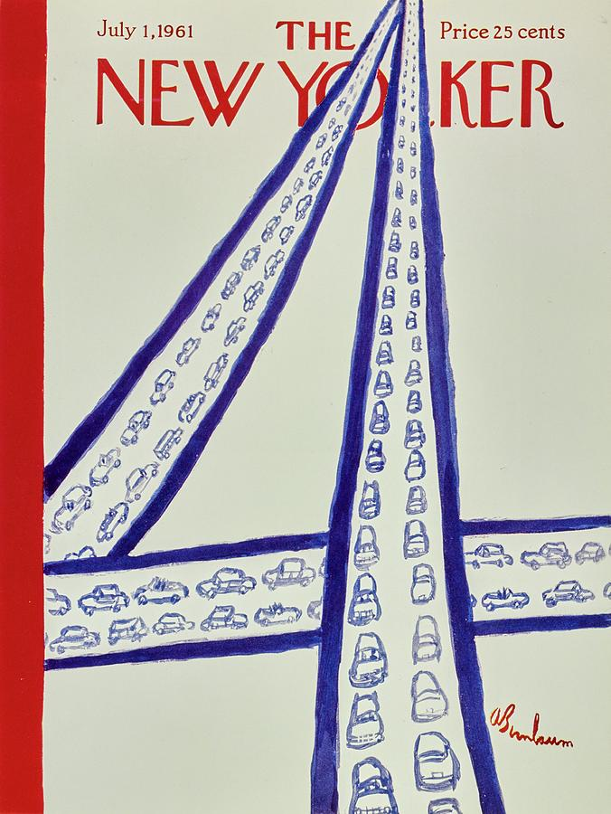 New Yorker July 1st 1961 Painting by Aaron Birnbaum