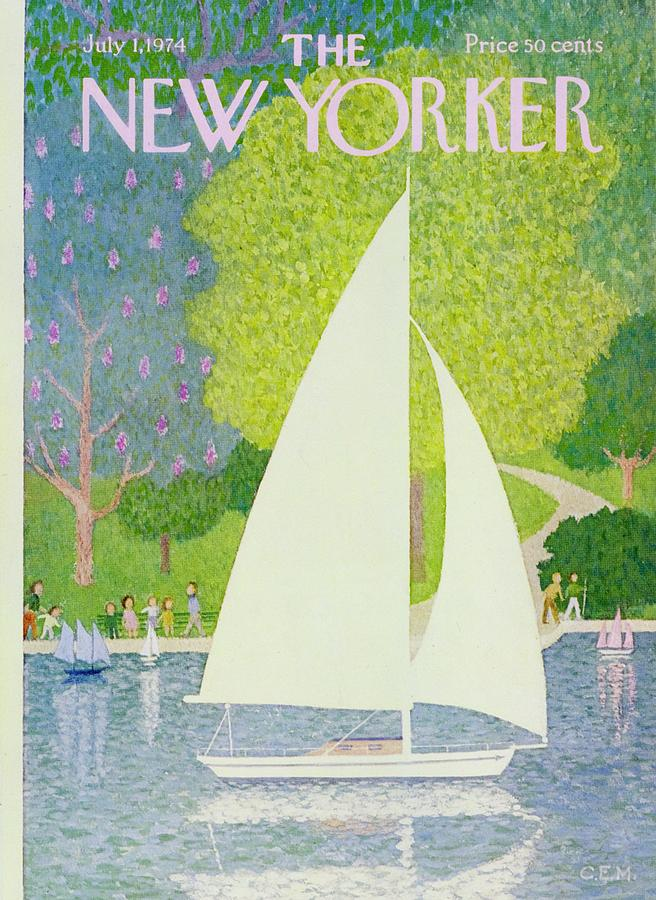 Illustration Painting - New Yorker July 1st 1974 by Charles Martin