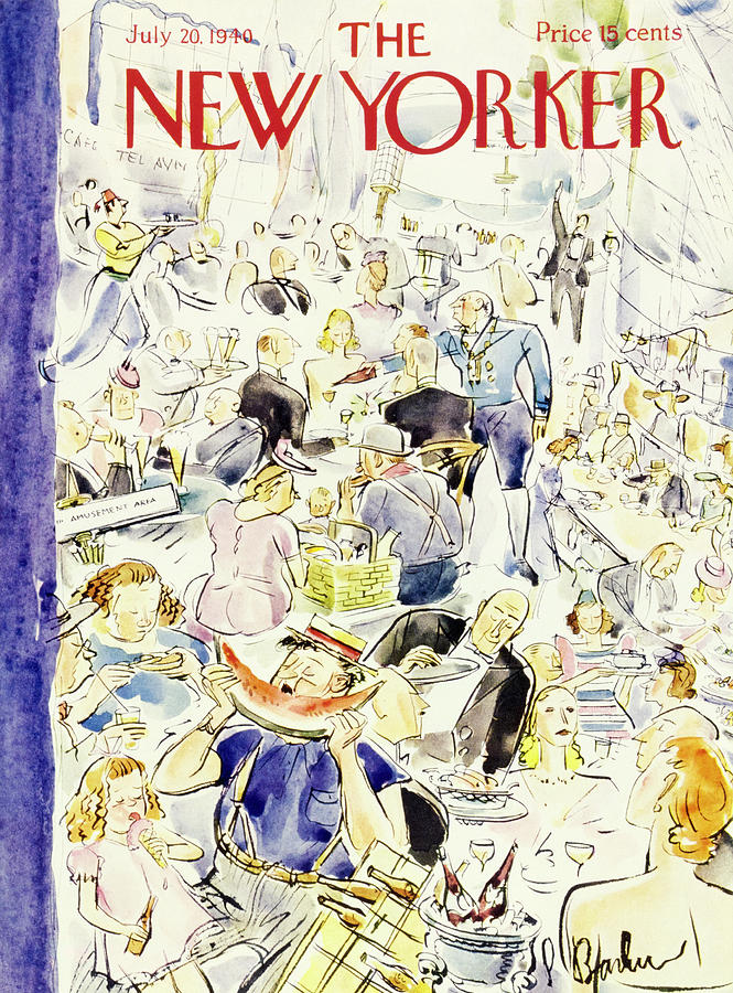 Food Painting - New Yorker July 20 1940 by Perry Barlow