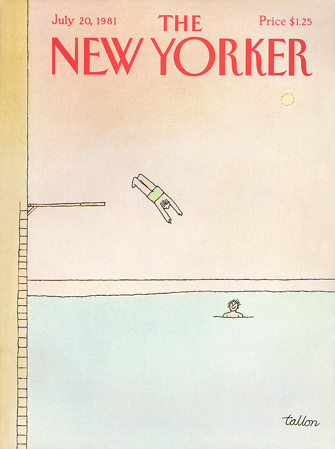 Season Painting - New Yorker July 20th, 1981 by Robert Tallon