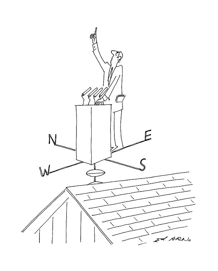 Government Drawing - New Yorker July 20th, 1992 by Ed Arno