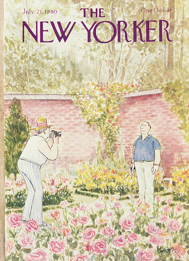 New Yorker July 21st, 1980 Painting by Charles Saxon