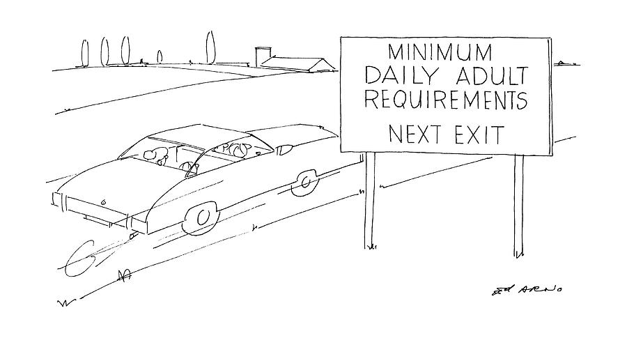 Highways Drawing - New Yorker July 21st, 1986 by Ed Arno