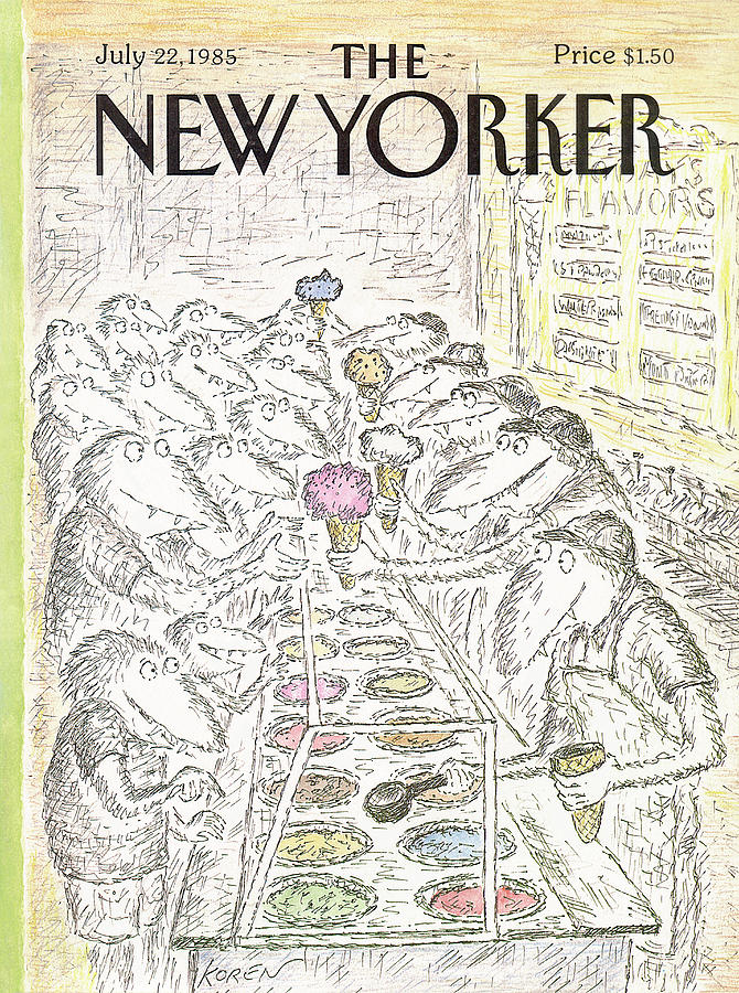 New Yorker July 22nd, 1985 Painting by Edward Koren