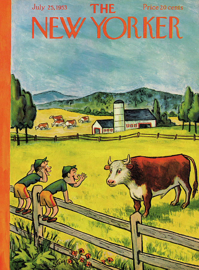 New Yorker July 25th, 1953 Painting by William Steig
