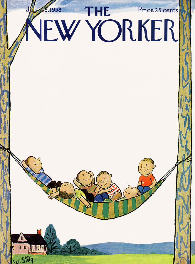 New Yorker July 26th, 1958 Painting by William Steig