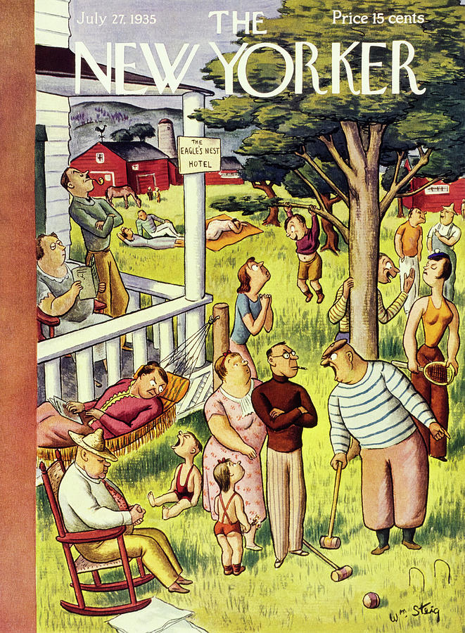 New Yorker July 27 1935 Painting by William Steig