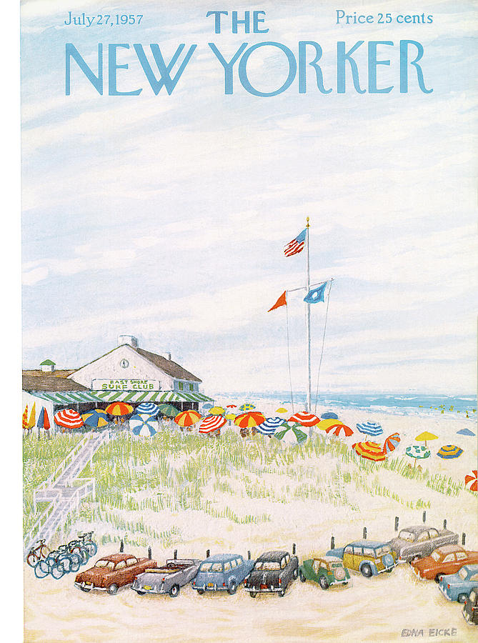 New Yorker July 27th, 1957 Painting by Edna Eicke