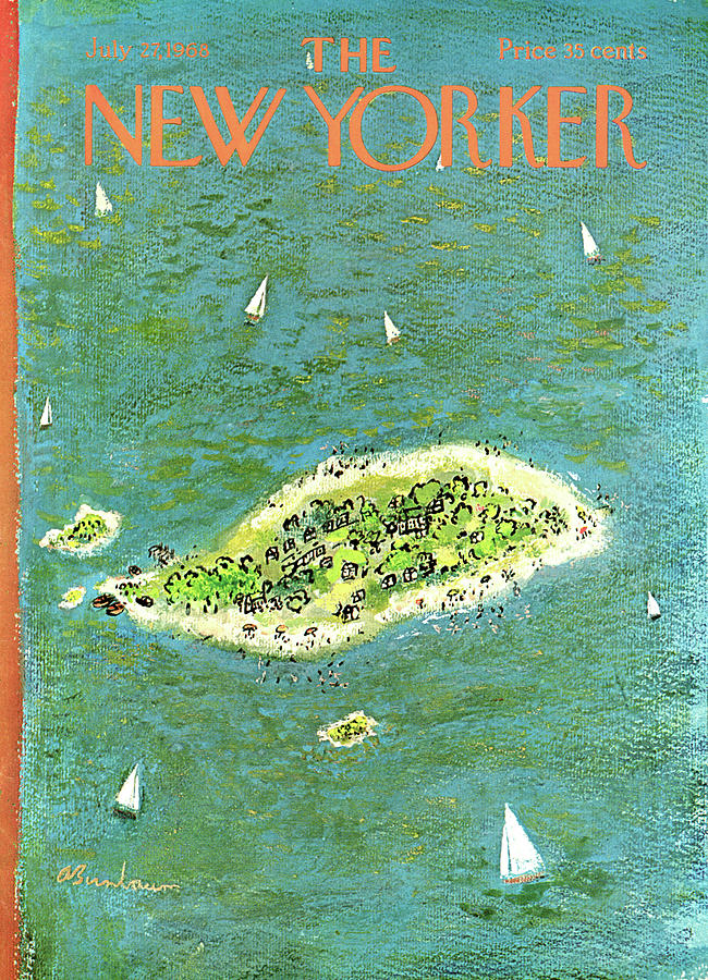New Yorker July 27th, 1968 Painting by Abe Birnbaum