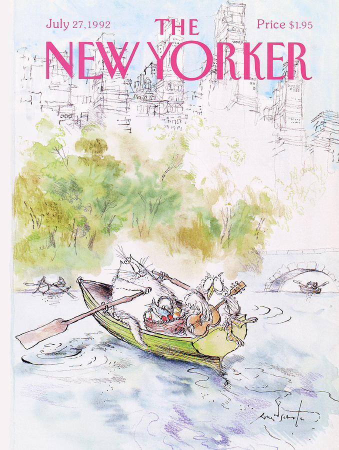 New Yorker July 27th, 1992 Painting by Ronald Searle