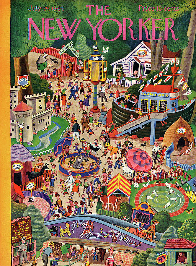 New Yorker July 29, 1944 Painting by Tibor Gergely