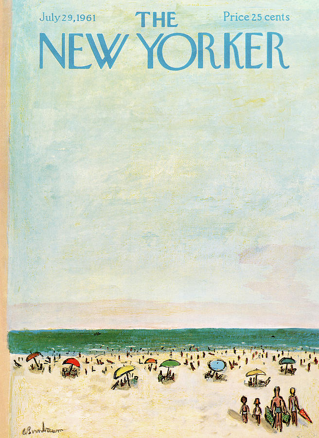 Sea Painting - New Yorker July 29th, 1961 by Abe Birnbaum