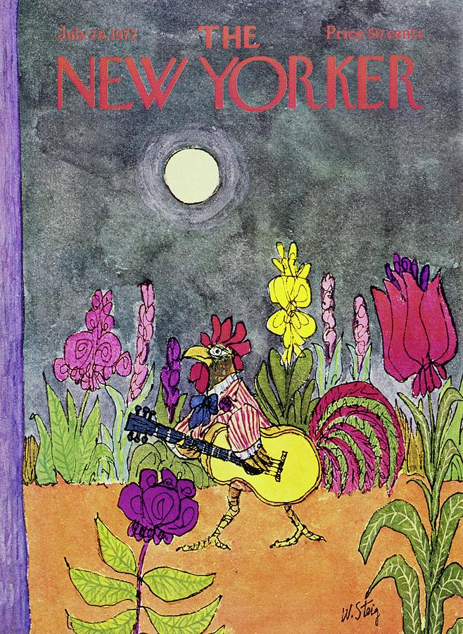 New Yorker July 29th 1972 Painting by William Steig