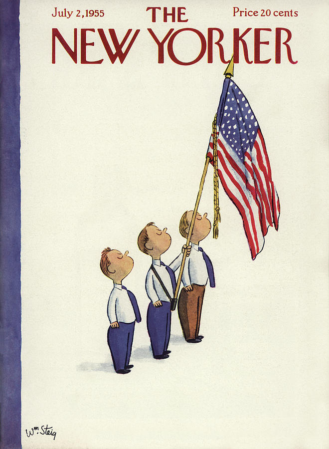 New Yorker July 2nd, 1955 Painting by William Steig