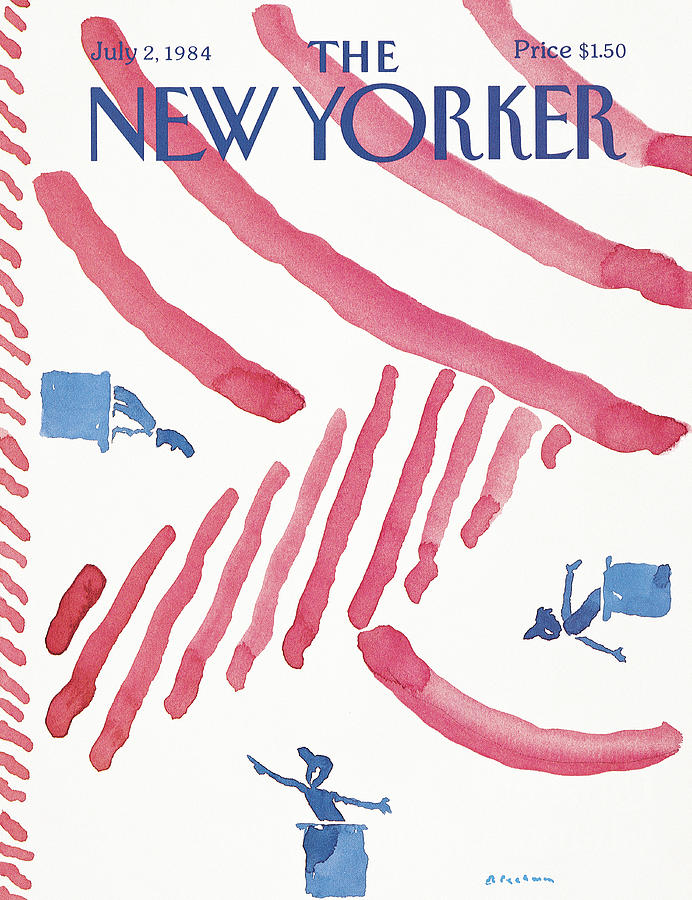 New Yorker July 2nd, 1984 Painting by RO Blechman