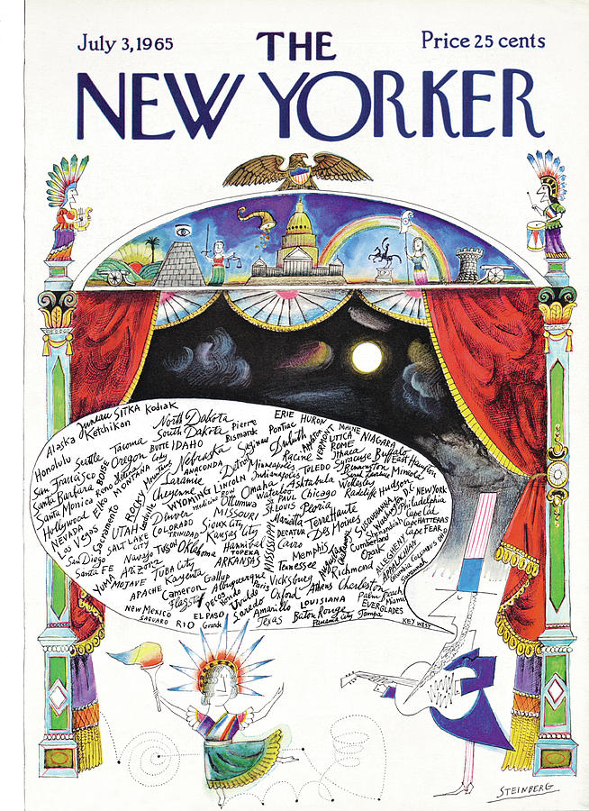 New Yorker July 3rd, 1965 Painting by Saul Steinberg