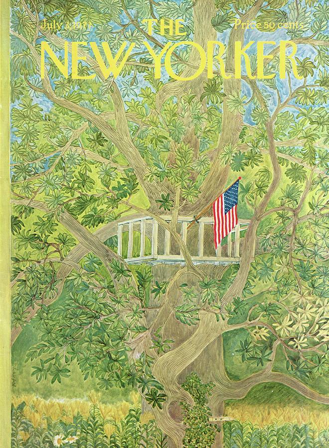 New Yorker July 3rd, 1971 Painting by Ilonka Karasz