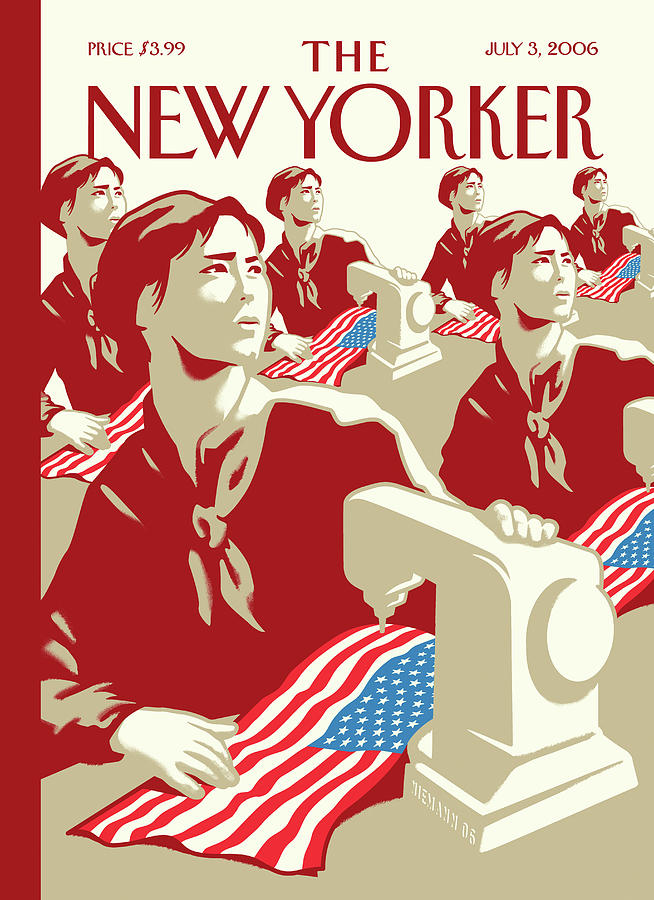 New Yorker July 3rd, 2006 Painting by Christoph Niemann