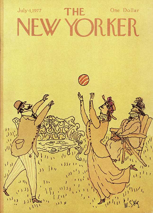 New Yorker July 4th, 1977 Painting by William Steig