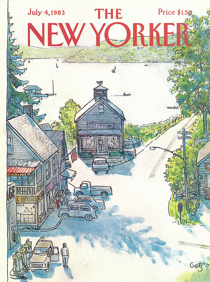 New Yorker July 4th, 1983 Painting by Arthur Getz