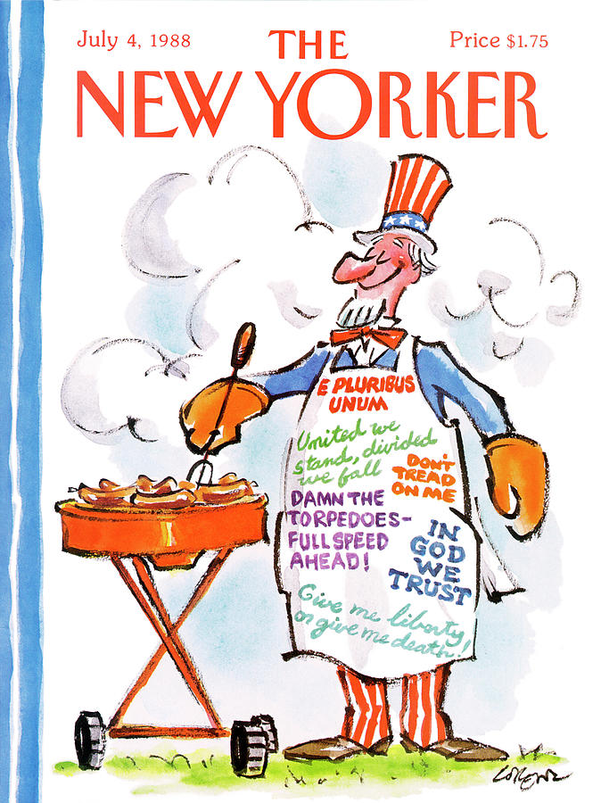 New Yorker July 4th, 1988 Painting by Lee Lorenz