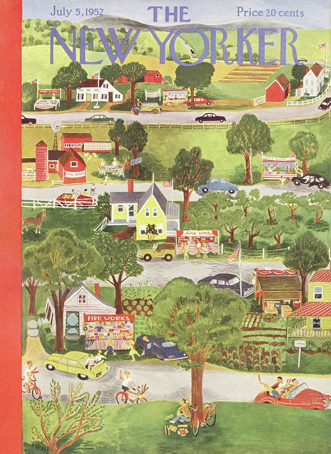 New Yorker July 5th, 1952 Painting by Ilonka Karasz