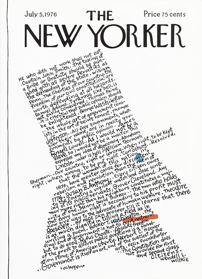 New Yorker July 5th, 1976 Painting by Lou Myers