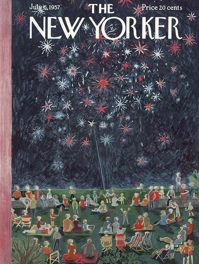 New Yorker July 6th, 1957 Painting by Ilonka Karasz