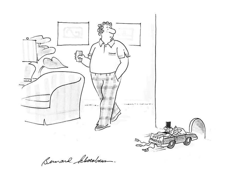 Pests Drawing - New Yorker July 6th, 1987 by Bernard Schoenbaum