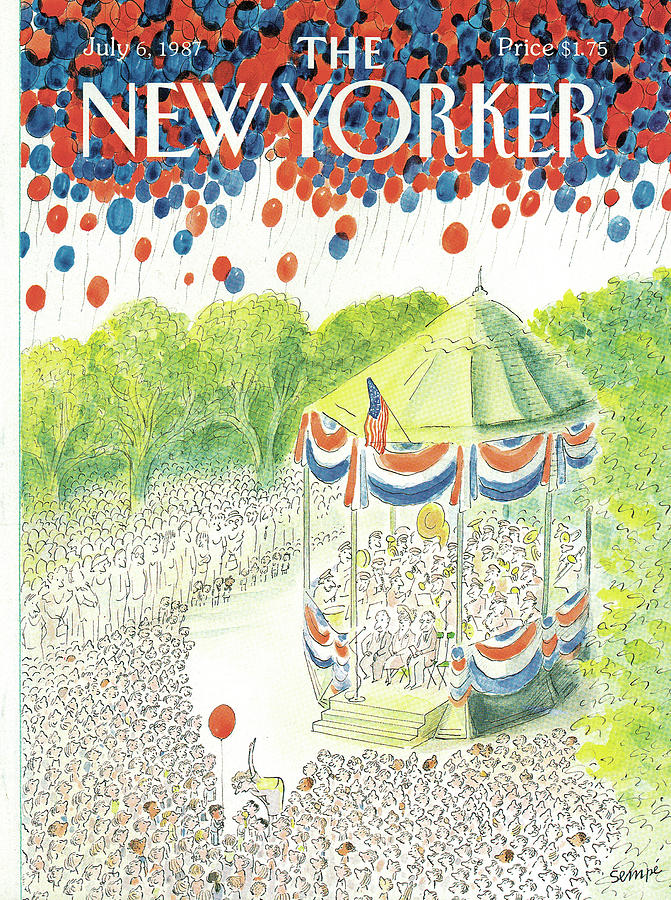 New Yorker July 6th, 1987 Painting by Jean-Jacques Sempe