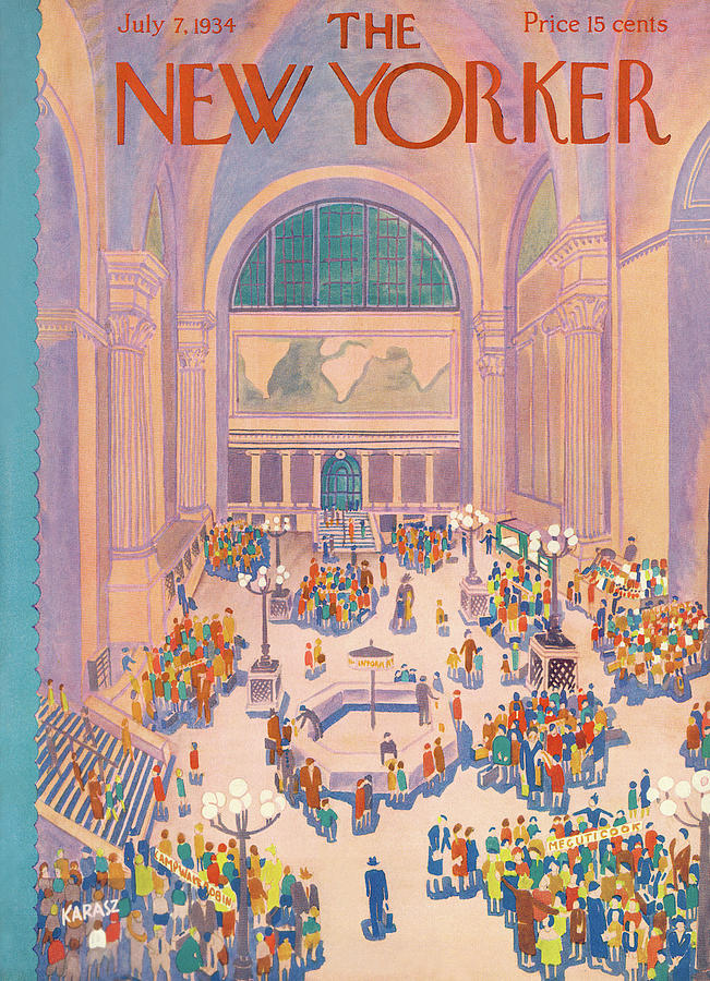 New Yorker July 7th, 1934 Painting by Ilonka Karasz