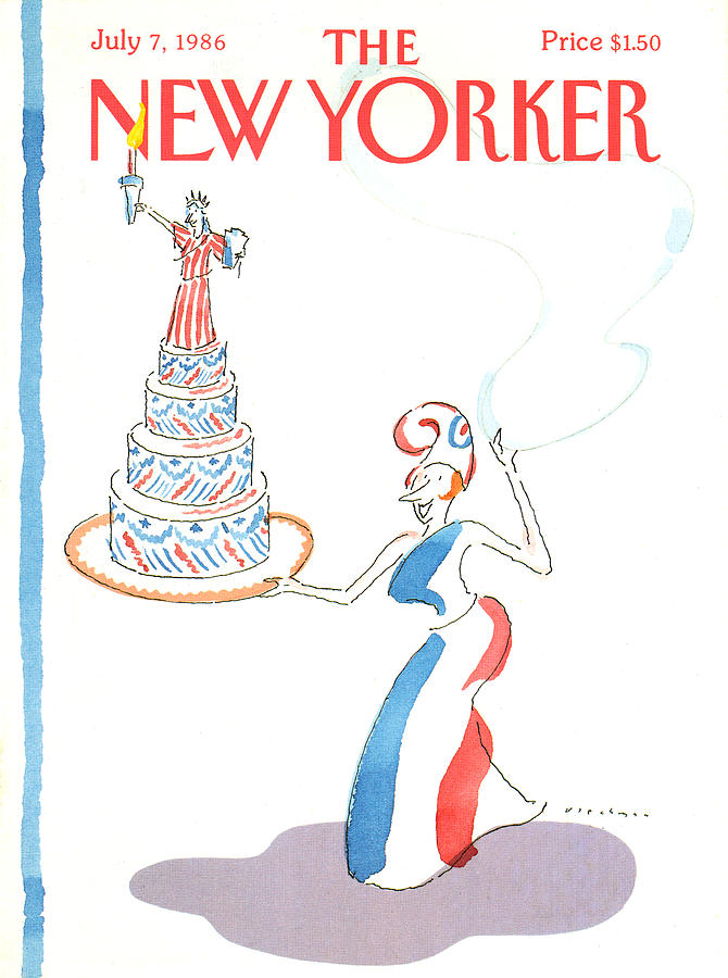 New Yorker July 7th, 1986 Painting by RO Blechman
