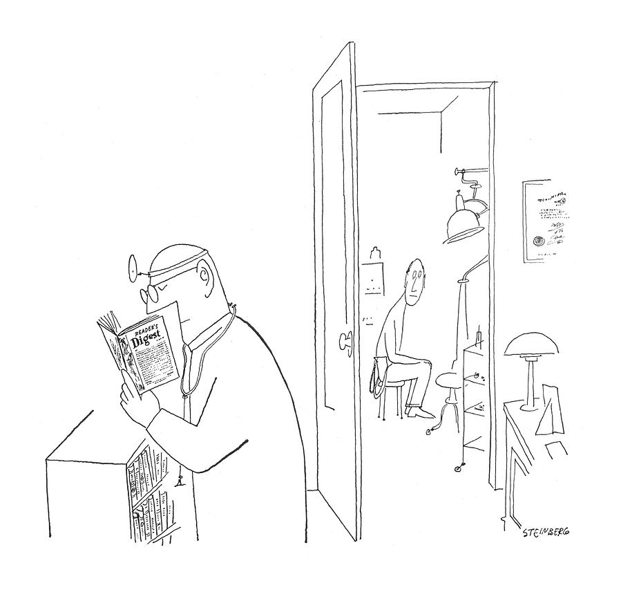New Yorker July 8th, 1950 Drawing by Saul Steinberg