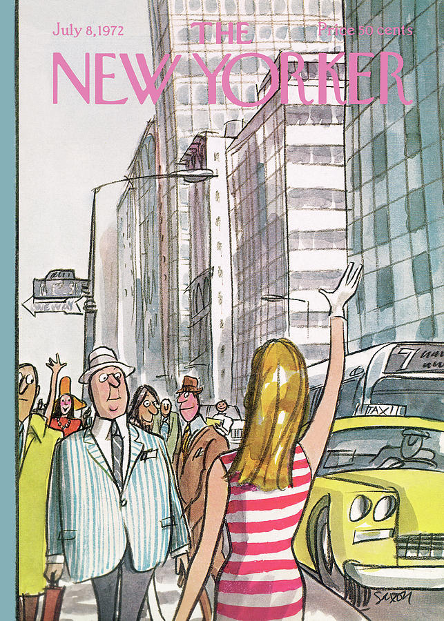 New Yorker July 8th, 1972 Painting by Charles Saxon