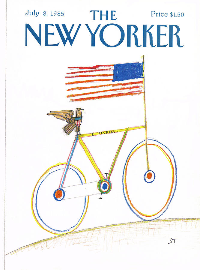 New Yorker July 8th, 1985 Painting by Saul Steinberg