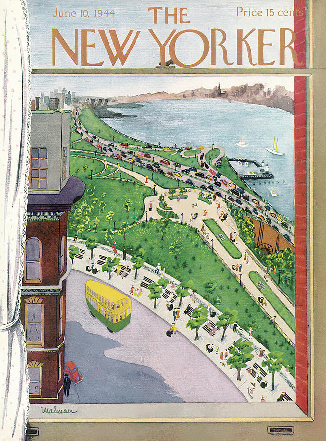 New Yorker June 10, 1944 Painting by Christina Malman
