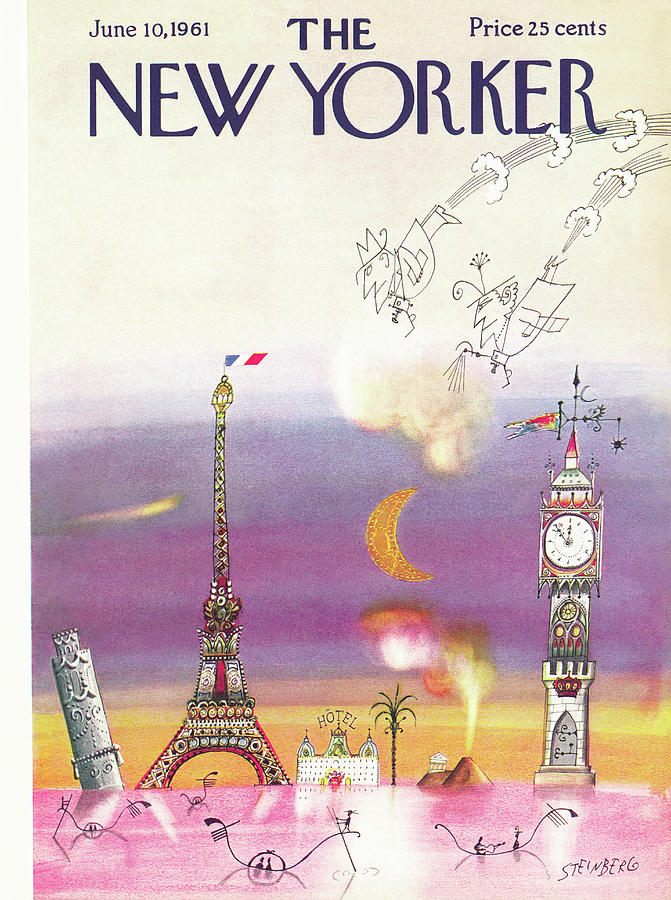 New Yorker June 10th, 1961 Painting by Saul Steinberg