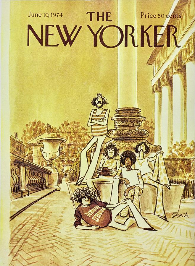 Illustration Painting - New Yorker June 10th 1974 by Charles D Saxon