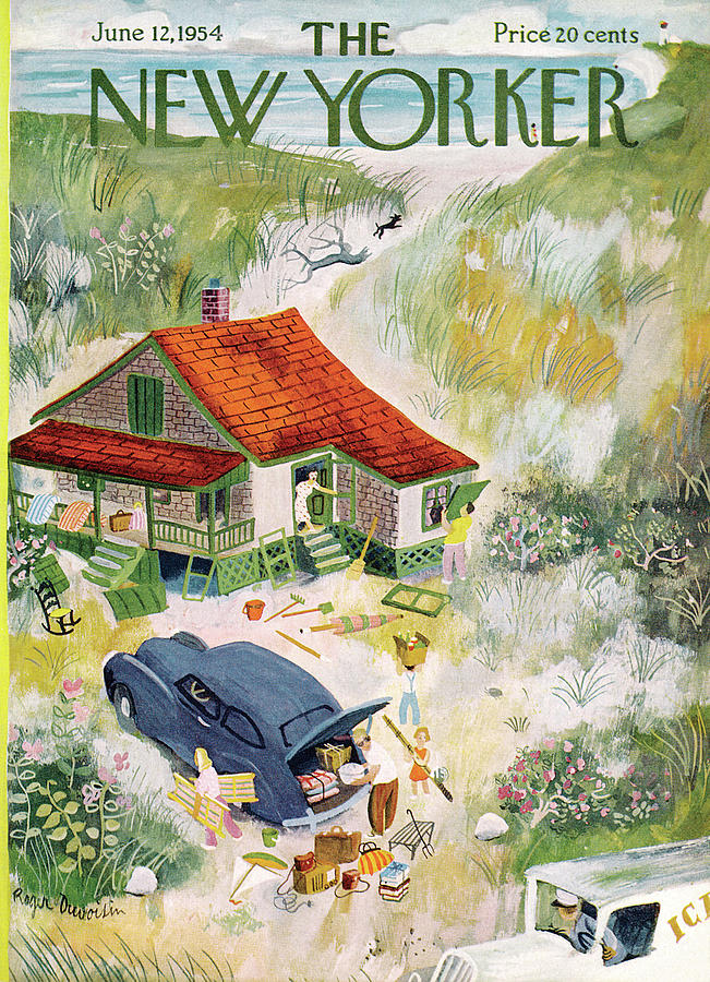 New Yorker June 12th, 1954 Painting by Roger Duvoisin