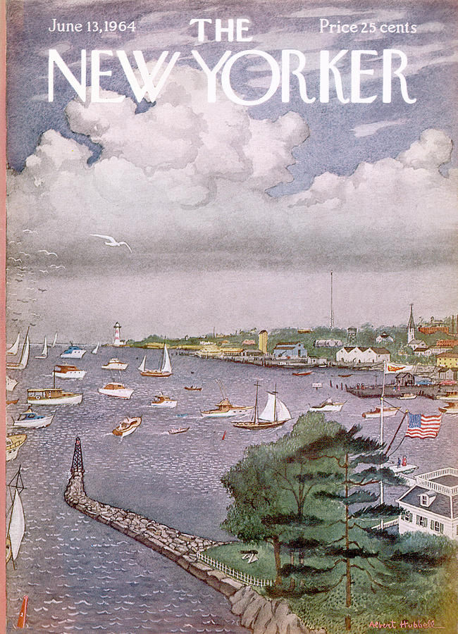 New Yorker June 13th, 1964 Painting by Albert Hubbell