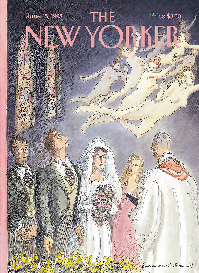 New Yorker June 15th, 1998 Painting by Edward Sorel